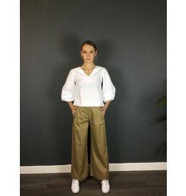 Humility Wide Cut Poplin Trousers