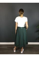 Humility Cotton Poplin Green Skirt