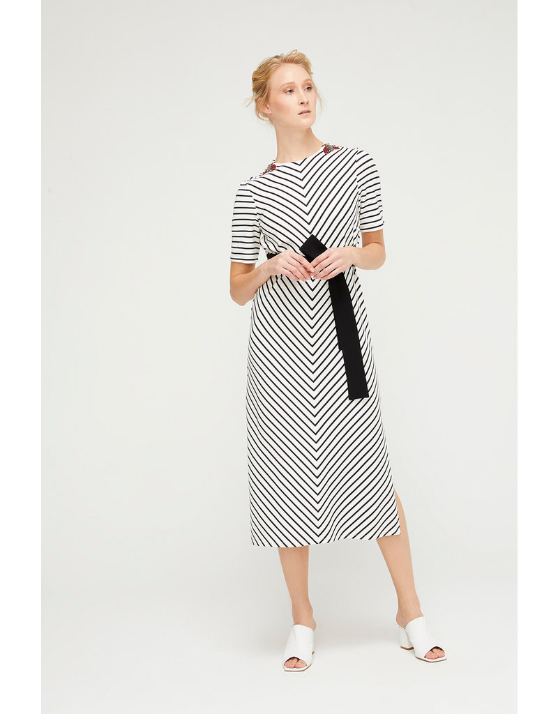 Exquise Stripe Jersey Dress