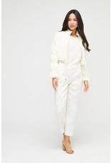 Exquise Self Print embossed Capri trouser