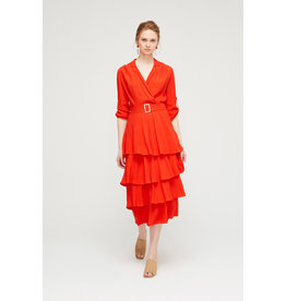 Exquise Tiered Dress with Collar