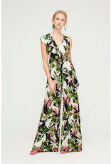Exquise Floral Jumpsuit with Ruffle Detail