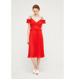 Exquise Frill Top and Pleated Skirt Dress