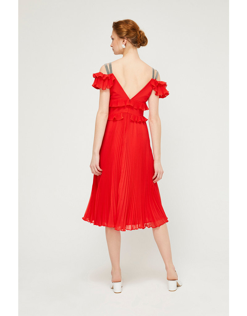 Exquise Exquise - Frill Top and Pleated Skirt Dress