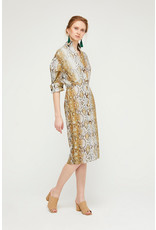 Exquise Snake Dress - Buttoned and with Collar.