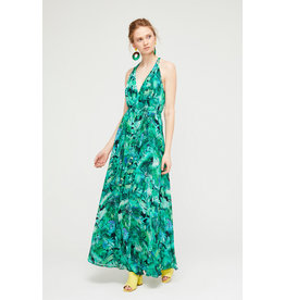 Exquise Sleeveless Green Maxi Dress