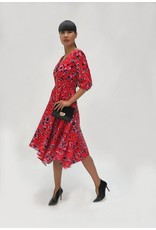 Fee G 3/4 Sleeve Animal Print Dress