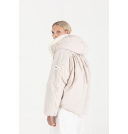 OOF Hooded Duvet Jacket with dipped drawstring hem