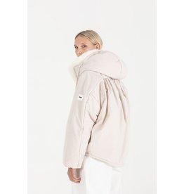 OOF OOF - Hooded Duvet Jacket with dipped drawstring hem
