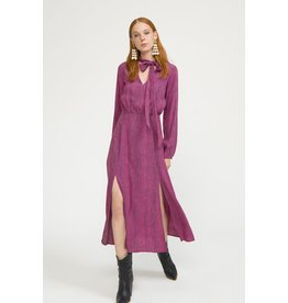 Exquise Fushia Dress with Neck Tie.