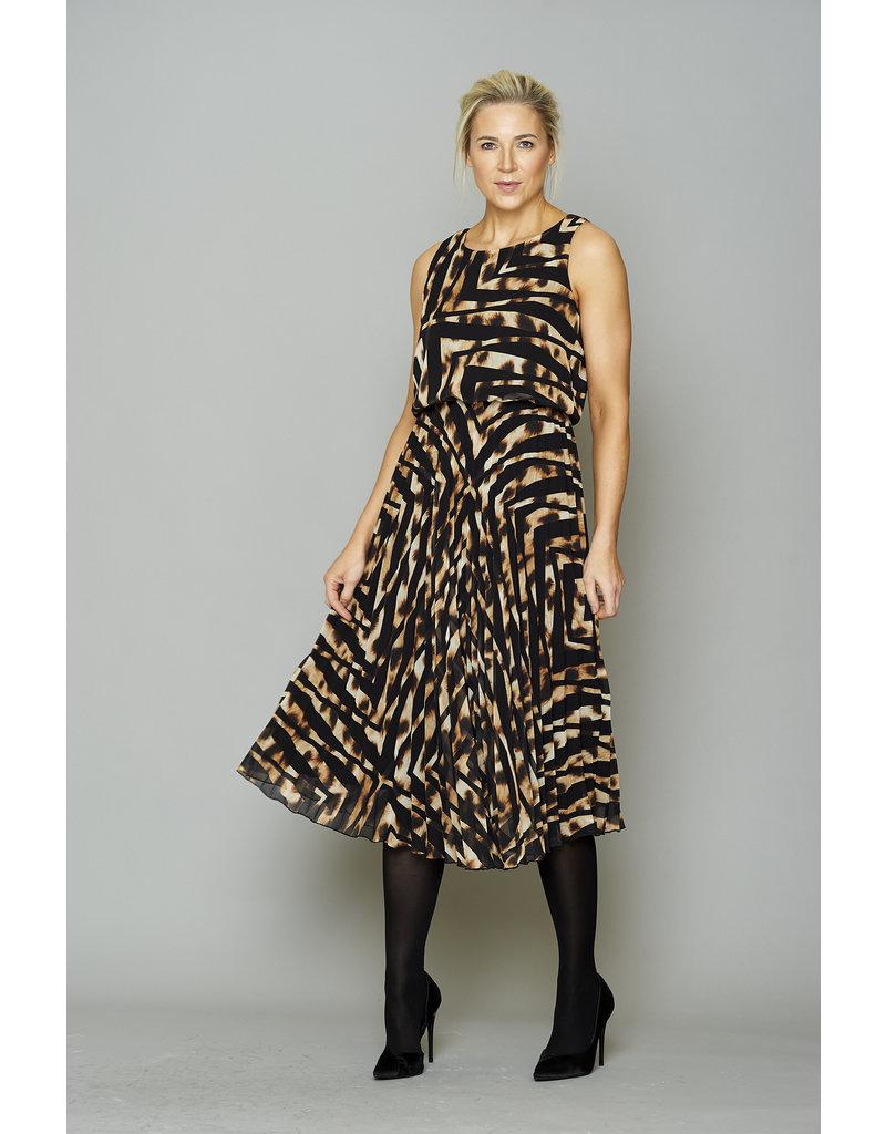 Peruzzi Animal Print Pleat Dress