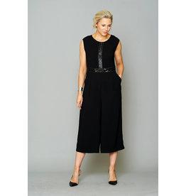 Peruzzi Black Sequin Jumpsuit