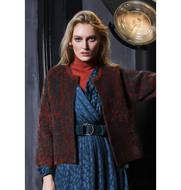 10 Feet Animal Jacquard Cardigan
