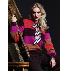 10 Feet Stripe Pullover with Broche