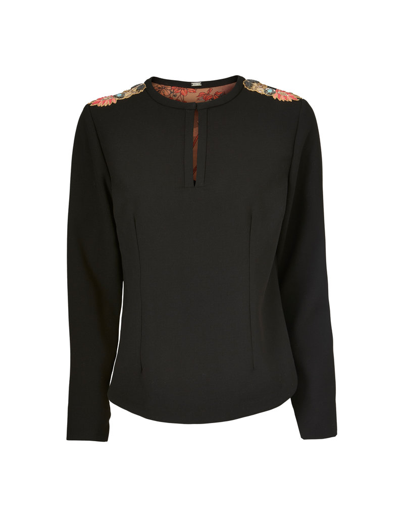 Gustav Denmark Long Sleeved Epaulette Top