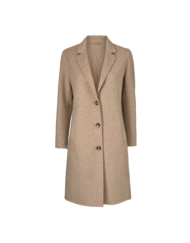 Gustav Denmark Knee Length Oatmeal Coat