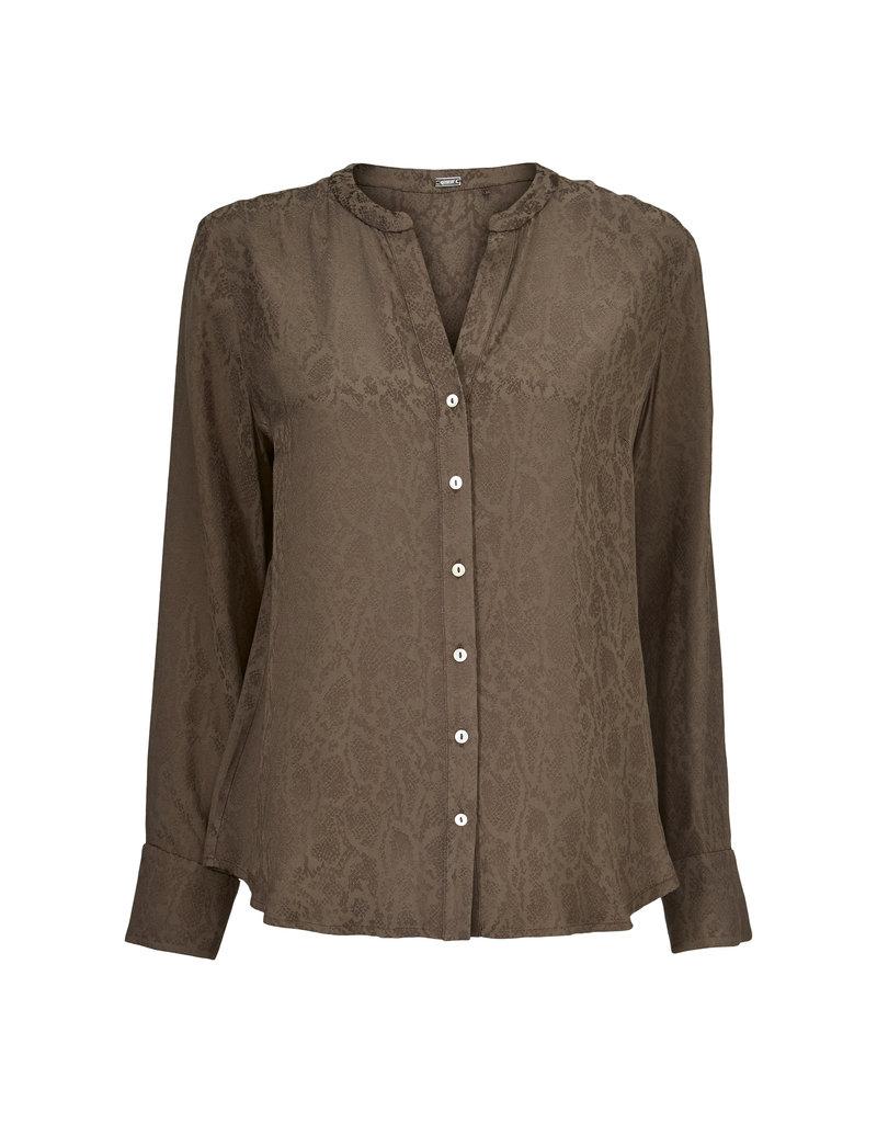 Gustav Denmark Brown Jacquard Shirt
