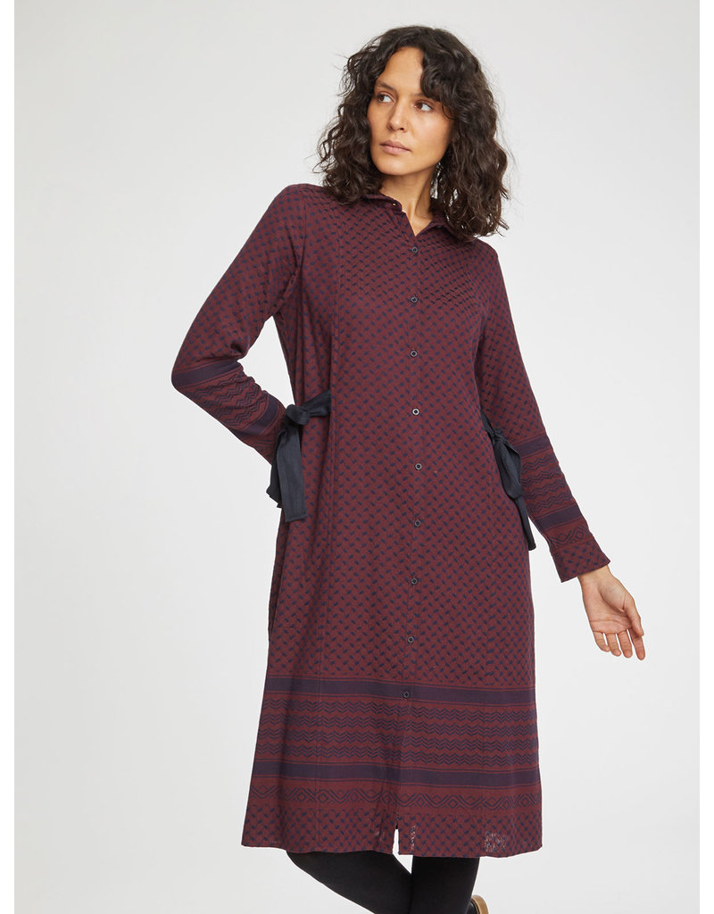 Thought Clothing Ditte Organic Tie Waist Shirt Dress