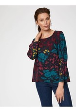 Thought Clothing Agnetha Floral Print Bamboo Top
