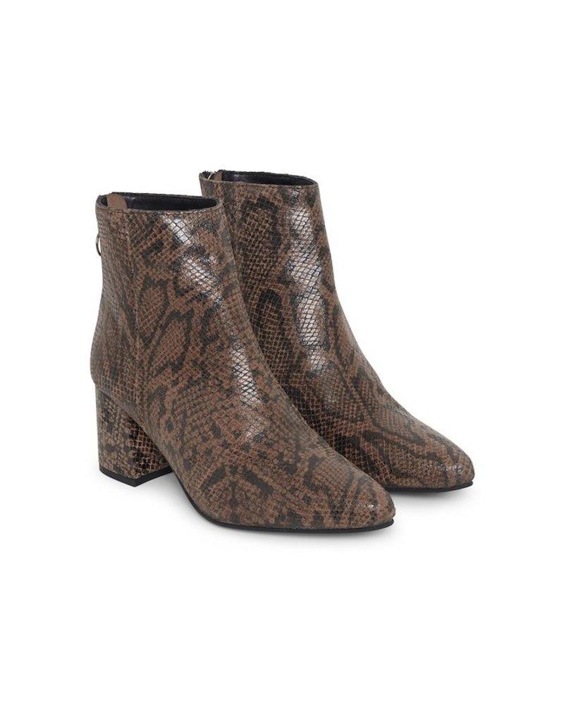 ICHI Leather Snake Boot