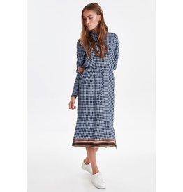 ICHI Kaylie Country Blue Midi Dress