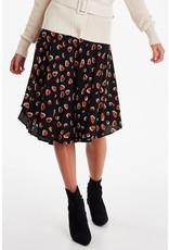 ICHI Kanya Black Print Skirt