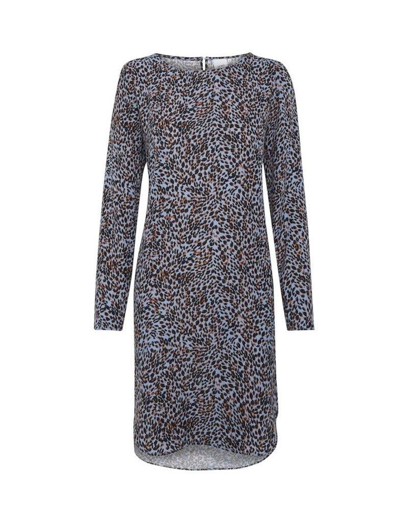 ICHI Leopard Print Barbara Dress