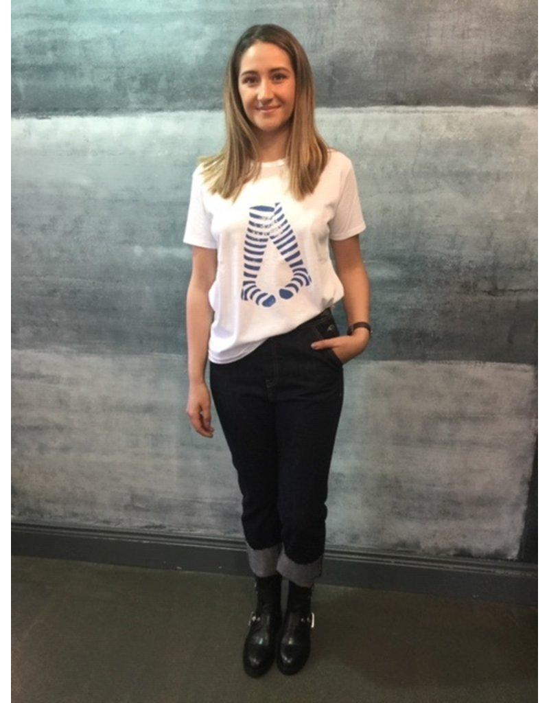 Humility Zebra Striped Leg T-Shirt