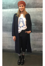 Humility Navy Long Cardigan Gilet
