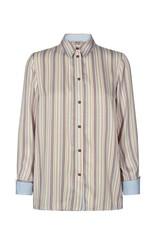 Mos Mosh Jodie River Shirt in Light Stripe Blue