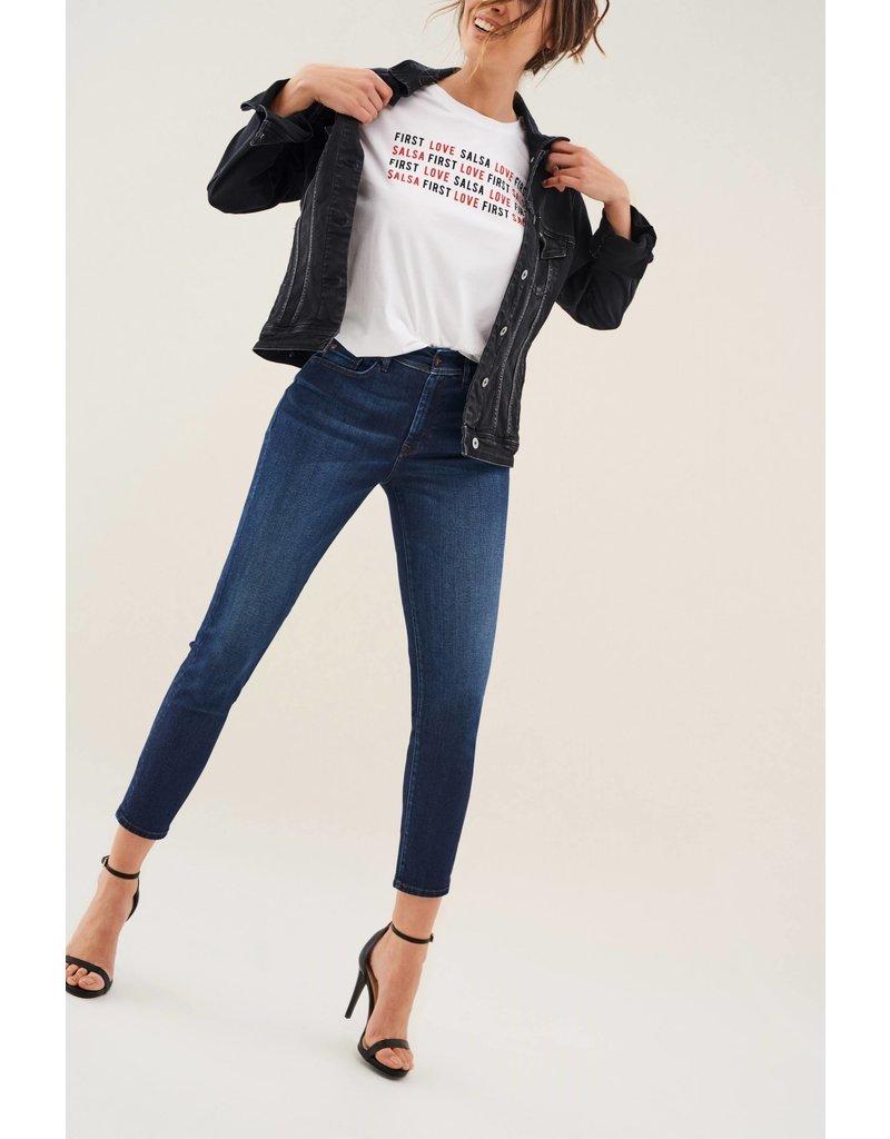 Salsa Jeans Bliss Capri Jeans in Dark rinse