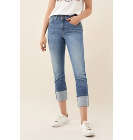 Salsa Jeans Secret Glamour Turn Up Capri Jeans