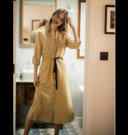 Fee G Mustard Stripe Shirt Dress