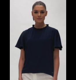 Fee G Pleate trim blouse with Drape Sleeve