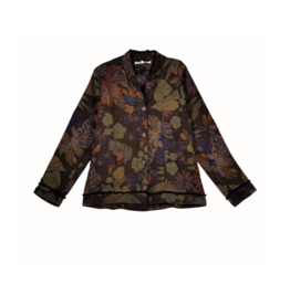 La Fee Maraboutee Printed Linen Shirt Jacket