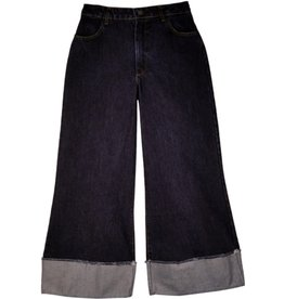 La Fee Maraboutee Culotte Style Jeans with Deep Turn Up Cuff