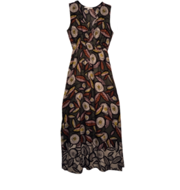 La Fee Maraboutee Long Sleeveless Printed Dress