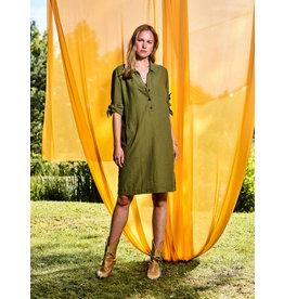 10 Feet Moss Dress with knotted cuff