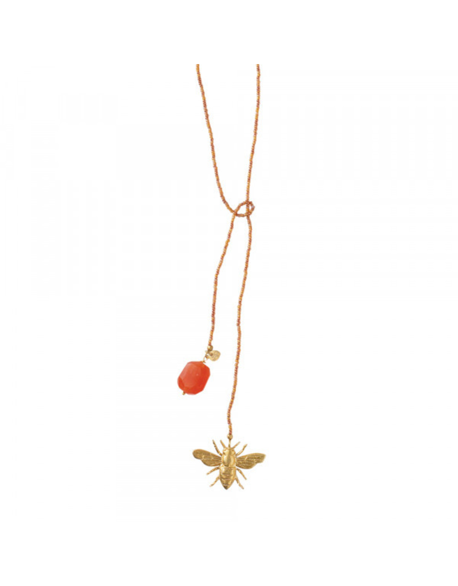 A beautiful Story Nova Carnelian Gold Necklace
