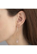 A beautiful Story Magical Rose Quartz Silver Earrings