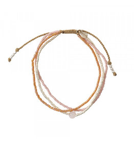 A beautiful Story Bloom Rose Quartz Silver Bracelet