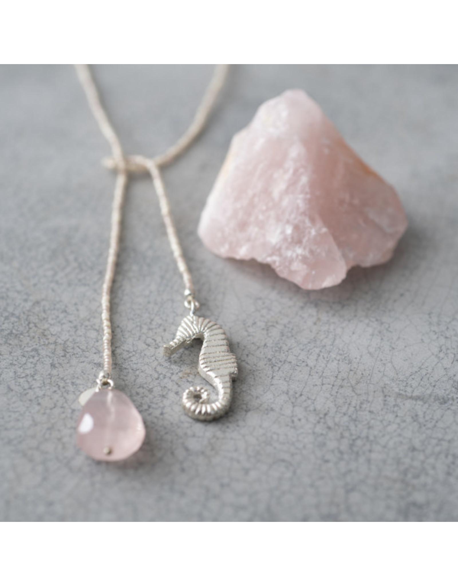 A beautiful Story Nova Rose Quartz Silver Necklace