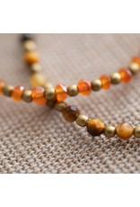A beautiful Story Beautiful Carnelian Gold Bracelet