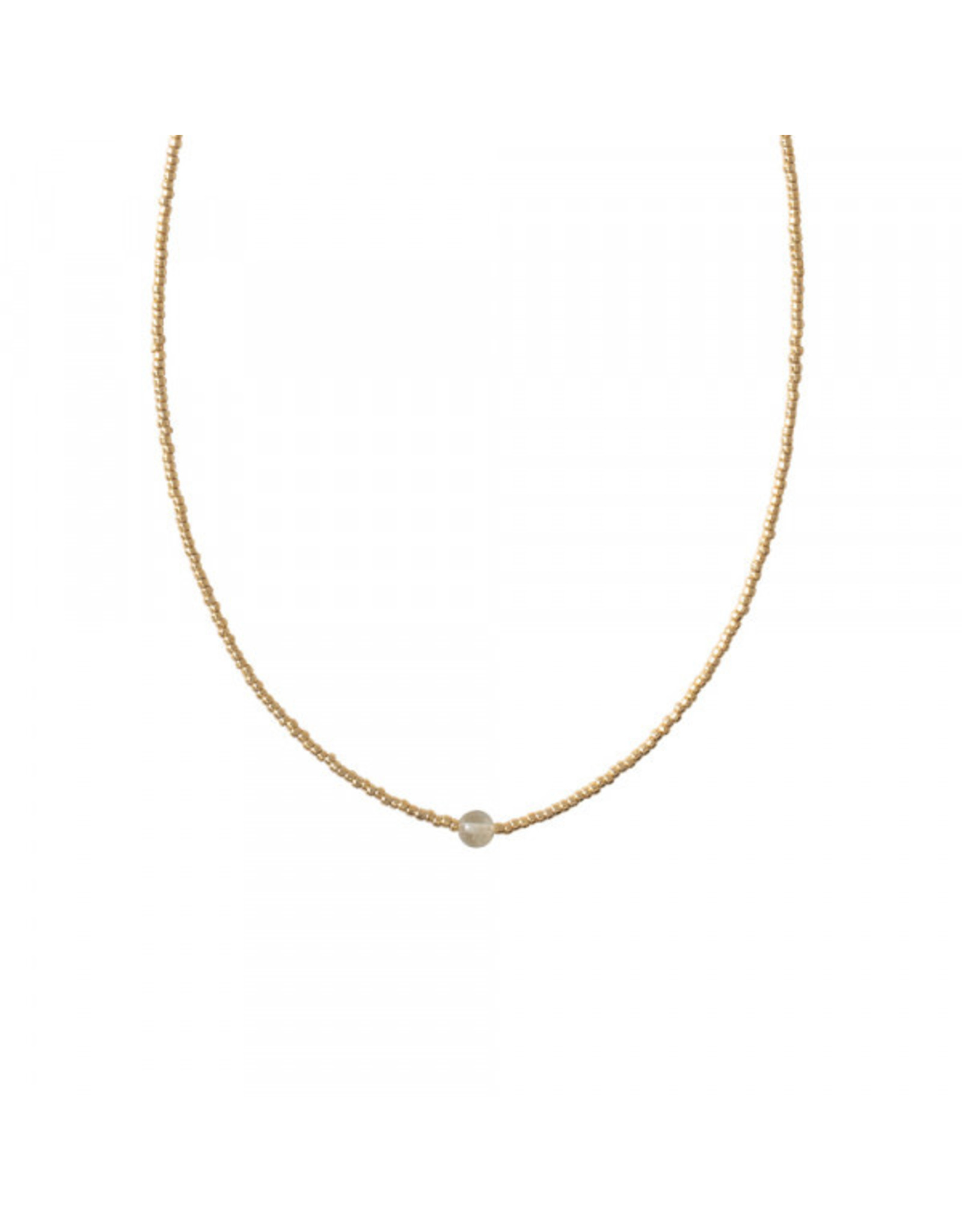 A beautiful Story Flora Citrine Gold Necklace
