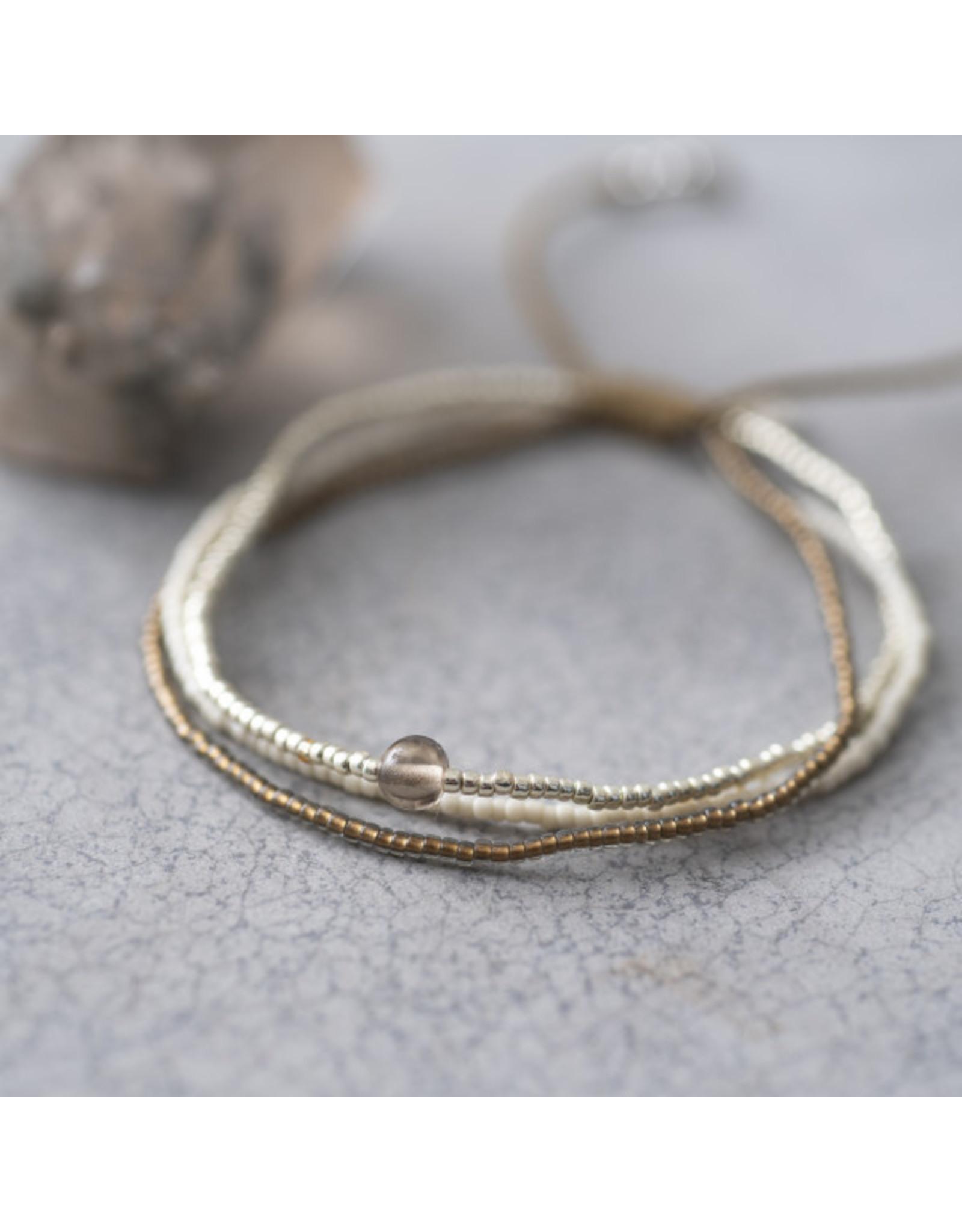 A beautiful Story A Beautiful Story - Bloom Smokey Quartz Silver Bracelet