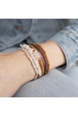A beautiful Story Superwrap Rose Quartz Silver Bracelet