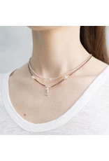 A beautiful Story Flora Rose Quatrz Silver Necklace