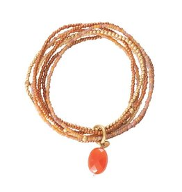 A beautiful Story Nirmala Carnelian Gold Bracelet