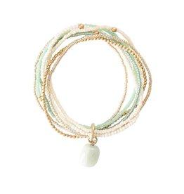 A beautiful Story Nirmala Aventurine Gold Bracelet