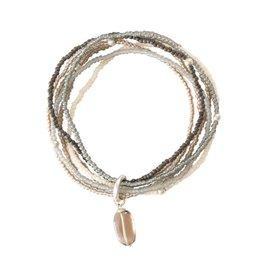 A beautiful Story Nirmala Smokey Quartz Silver Bracelet
